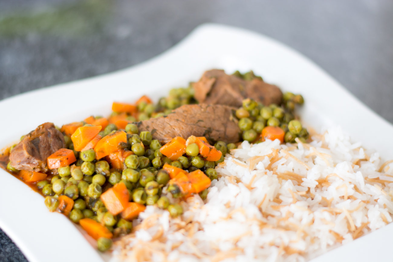 Lebanese Pea Stew with Rice